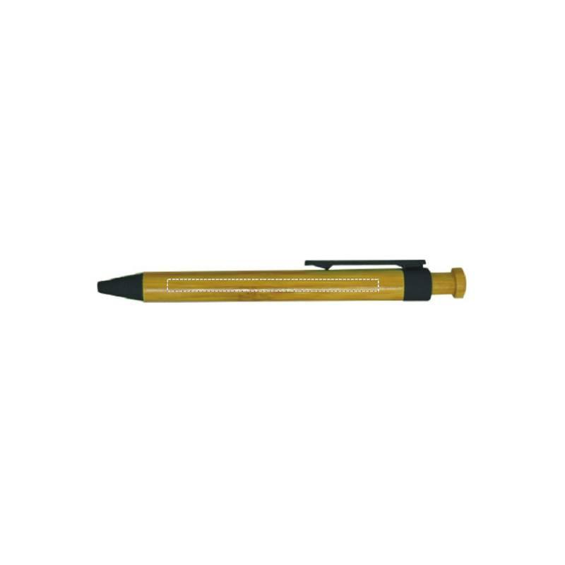 Bolígrafo de bambú con pulsador 2