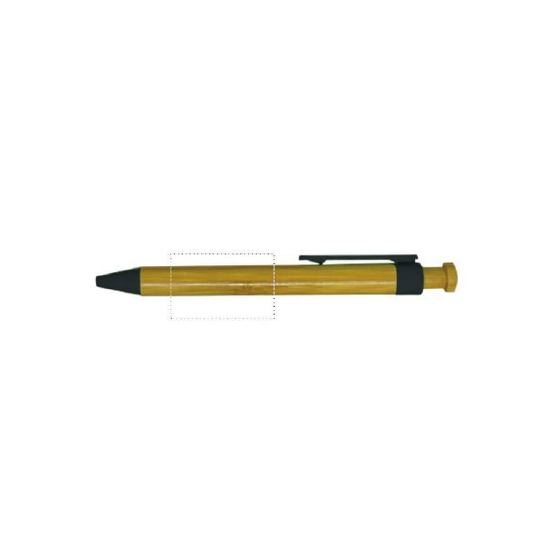 Bolígrafo de bambú con pulsador 3