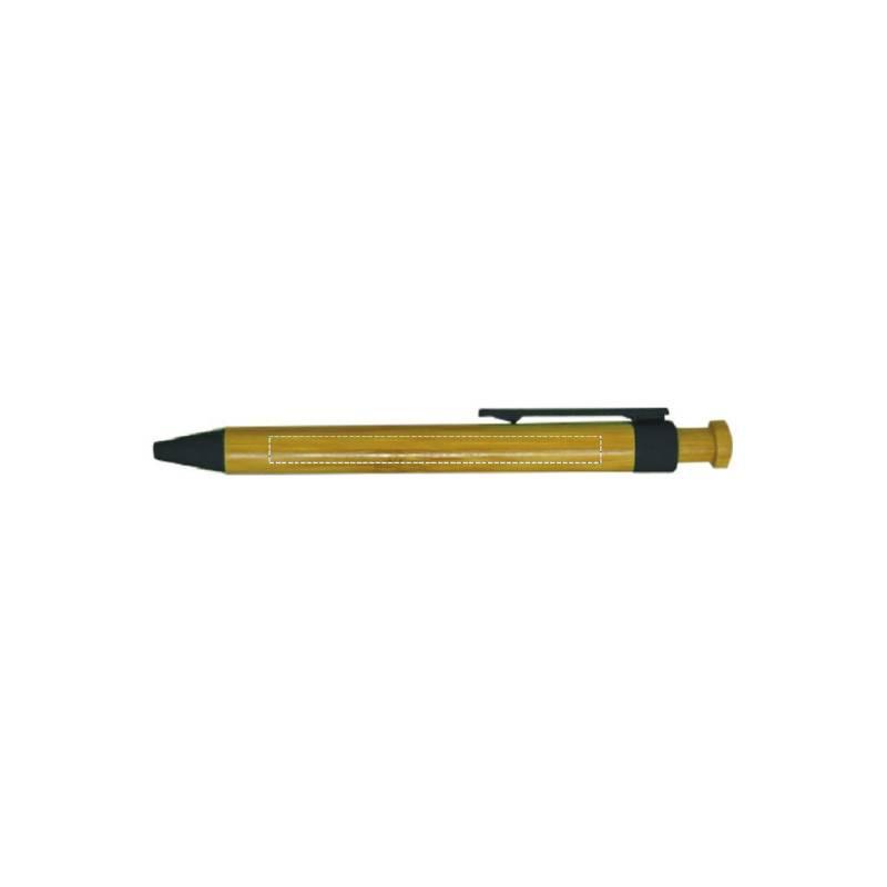 Bolígrafo de bambú con pulsador 5