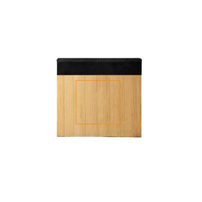 Cuaderno con notas adhesivas de bambú 1