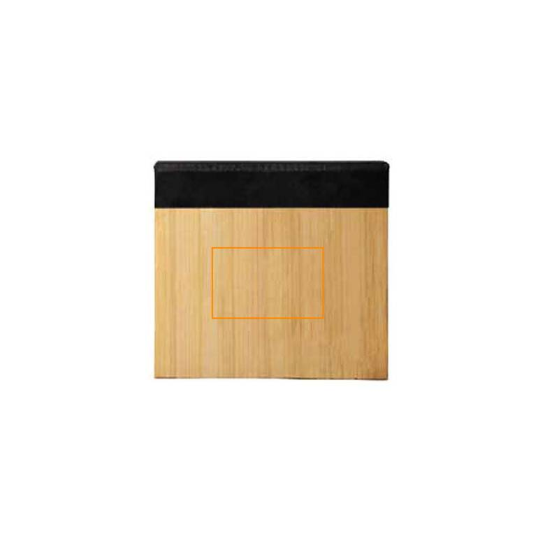 Cuaderno con notas adhesivas de bambú 2