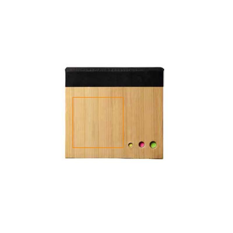 Cuaderno con notas adhesivas de bambú 3