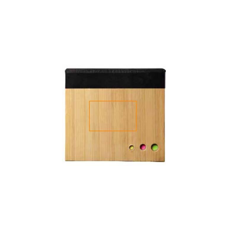 Cuaderno con notas adhesivas de bambú 4