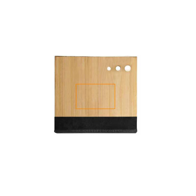 Cuaderno con notas adhesivas de bambú 6