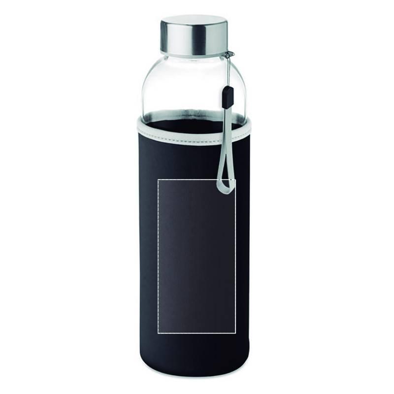 Botella de cristal con funda de neopreno 3