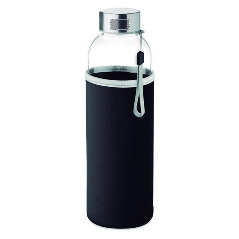 Botella de cristal con funda de neopreno 4