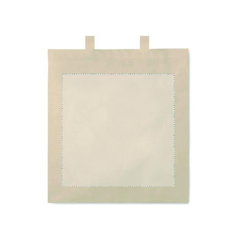 Bolsa de algodón con fuelle 1