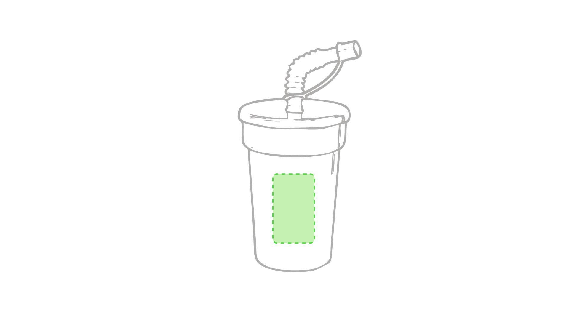 Vaso con pajita flexible 1