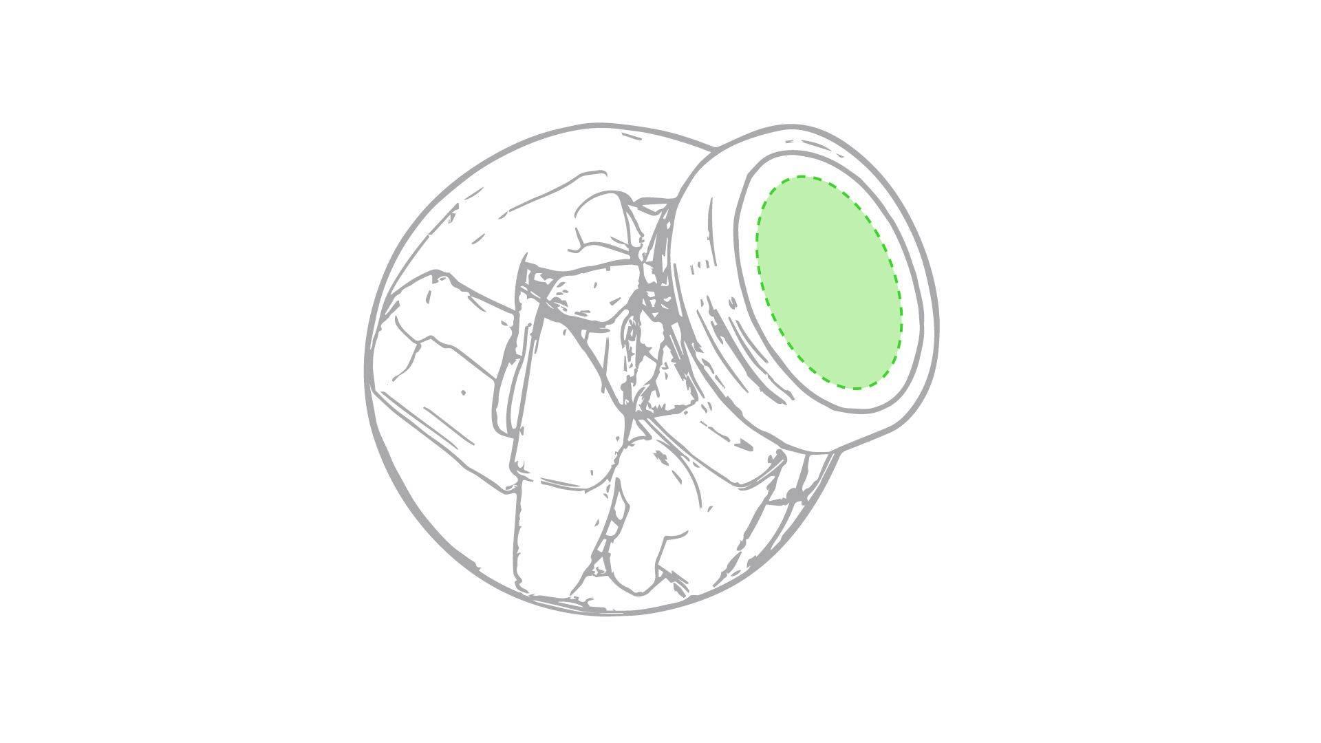 Bote de mini marcadores fluorescentes 1