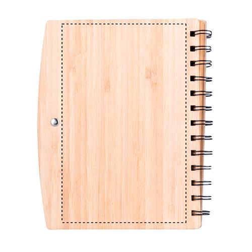 Libreta de bambú con bolígrafo 1