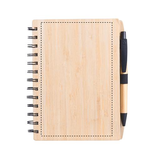 Libreta de bambú con bolígrafo 2
