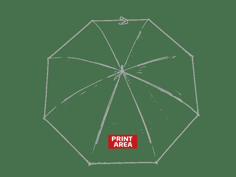 Paraguas con mango de madera 1