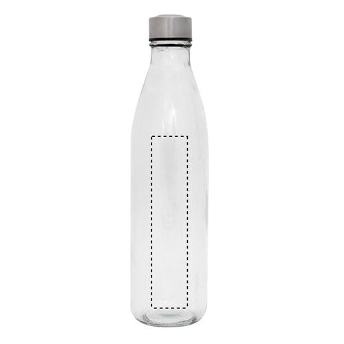 Botella de cristal con tapón de acero 1