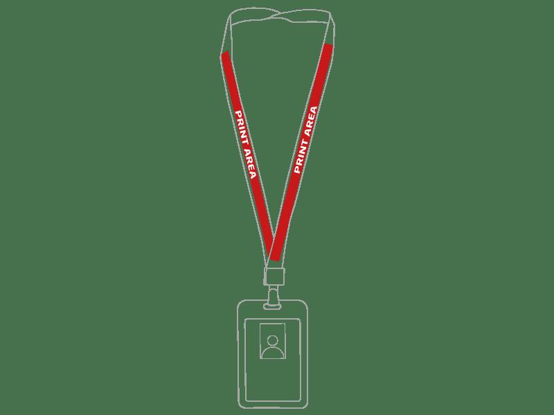 Lanyard con porta-acreditación rígida 1