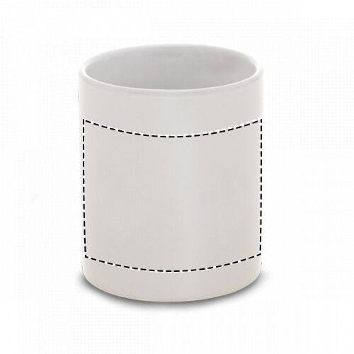 Taza cerámica blanca premium 1