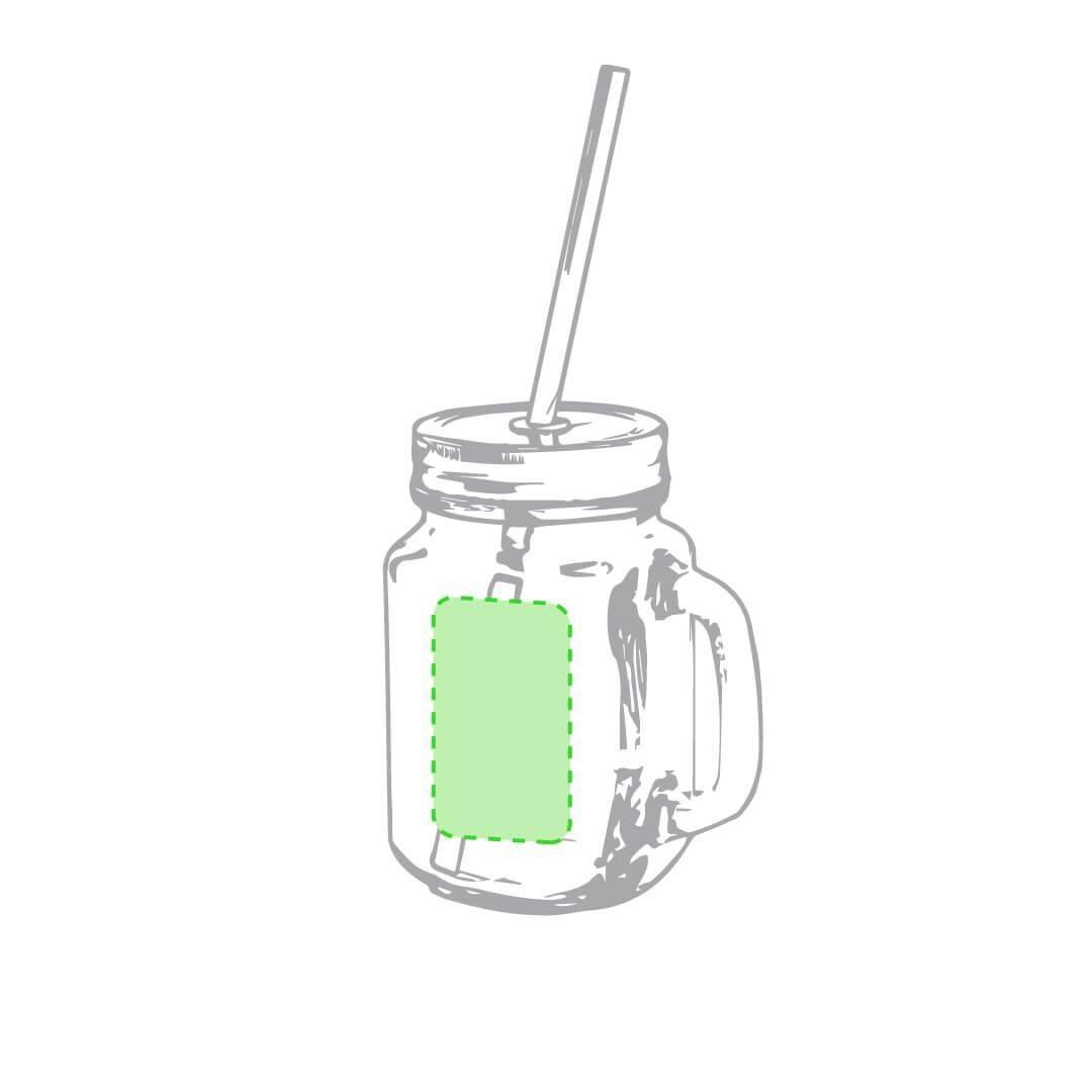 Jarra de cristal con pajita 1
