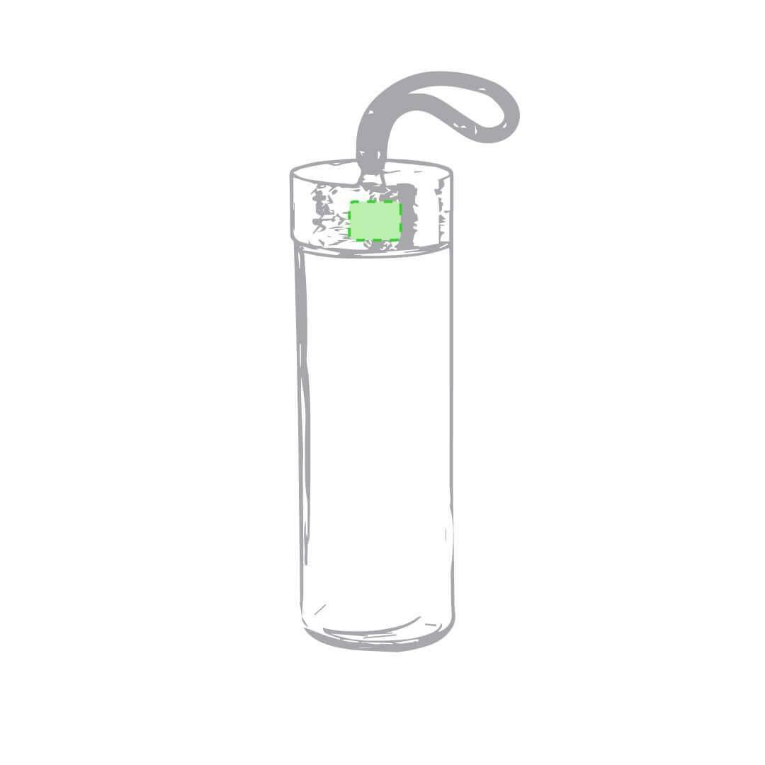 Botella de cristal con bambú y asa de cuerda 2