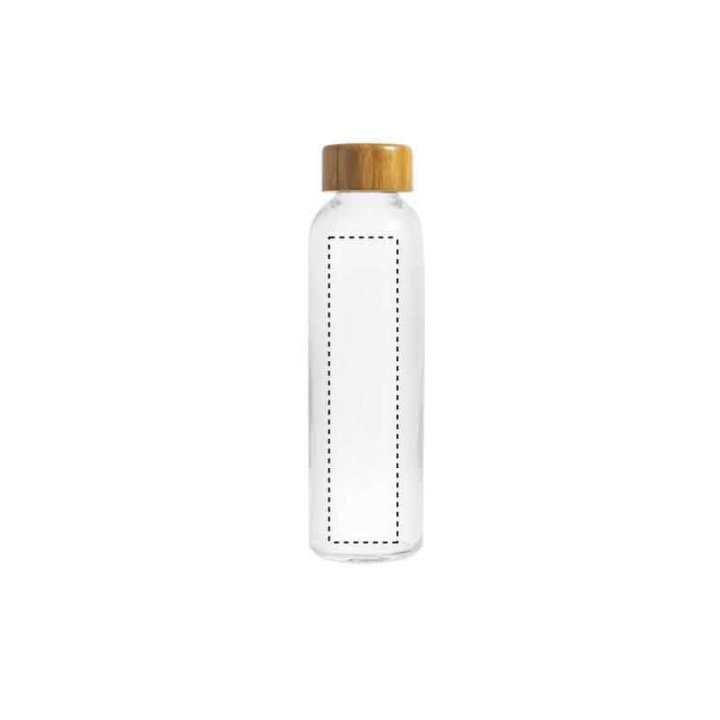 Botella de cristal y bambú 1