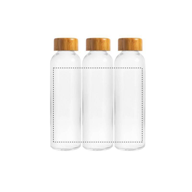 Botella de cristal y bambú 2