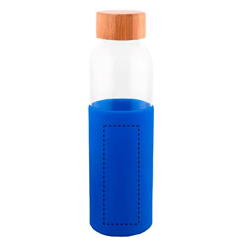 Botella de cristal con funda de silicona 1