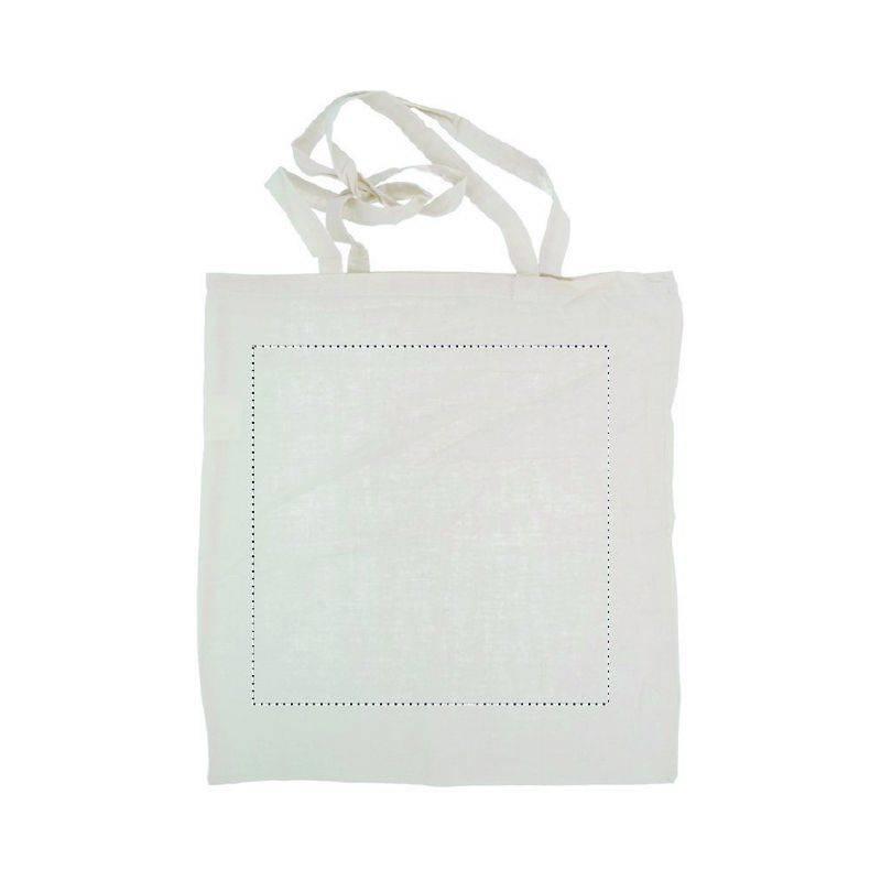 Bolsa de algodón asas largas básica 1