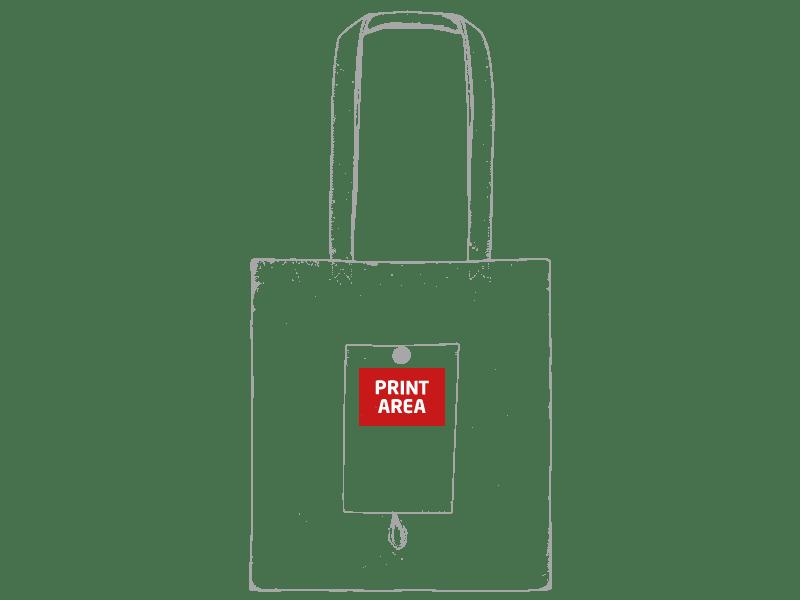 Bolsa de algodón plegable con bolsillo 2