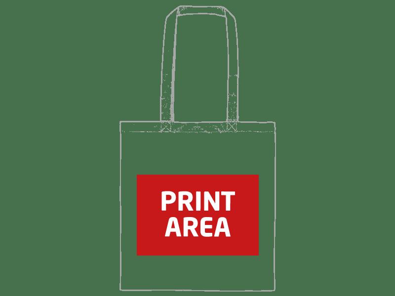 Bolsa de algodón asa larga 240 gr/m2 1