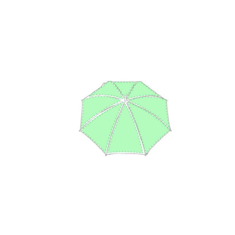 Paraguas de personalización 360 y mango de madera 1