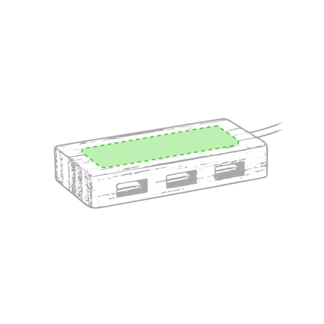 Puerto USB de bambú 1