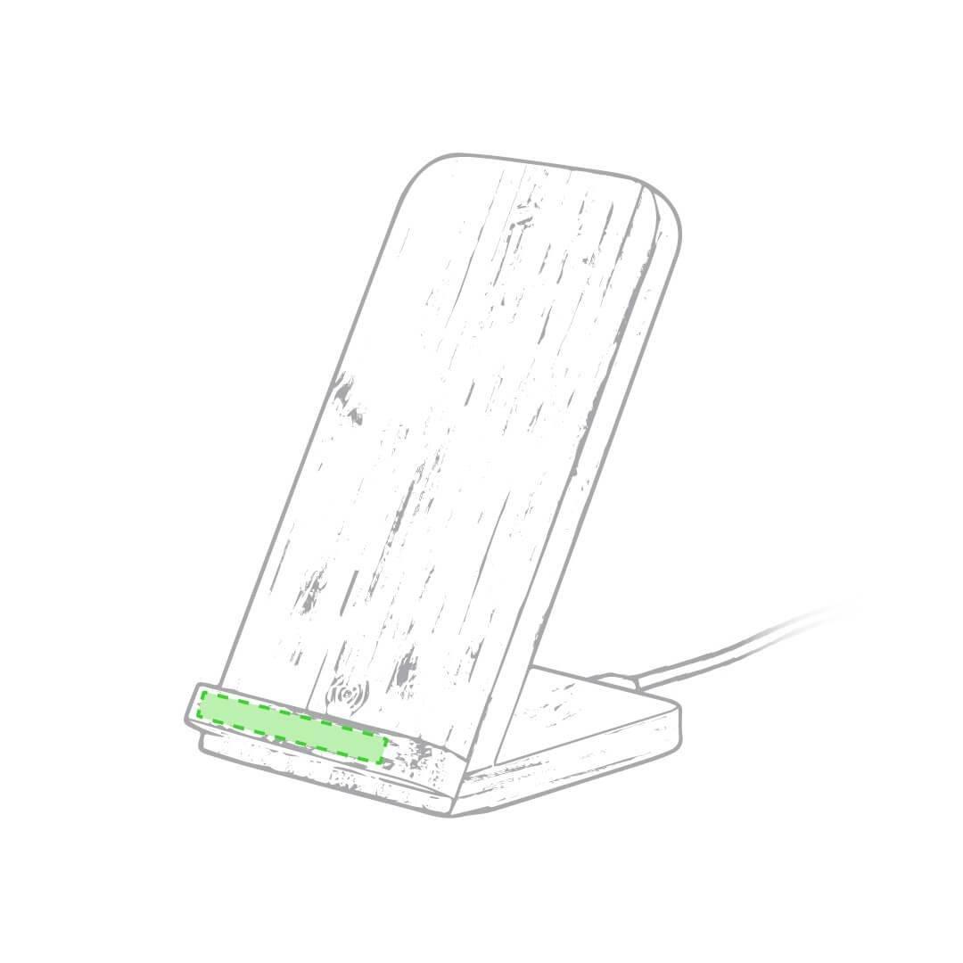 Cargador inalámbrico de bambú 2