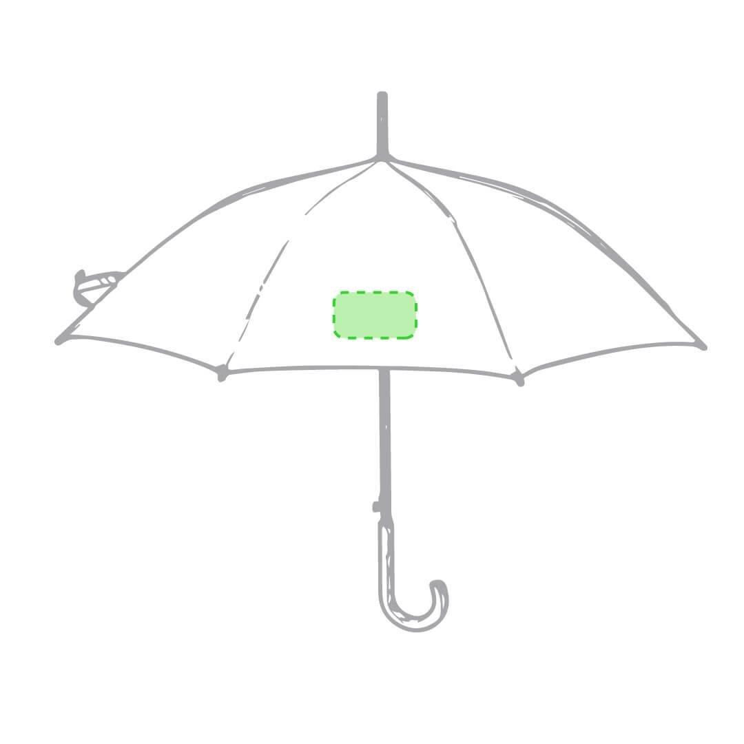 Paraguas de plástico reciclado RPET 1
