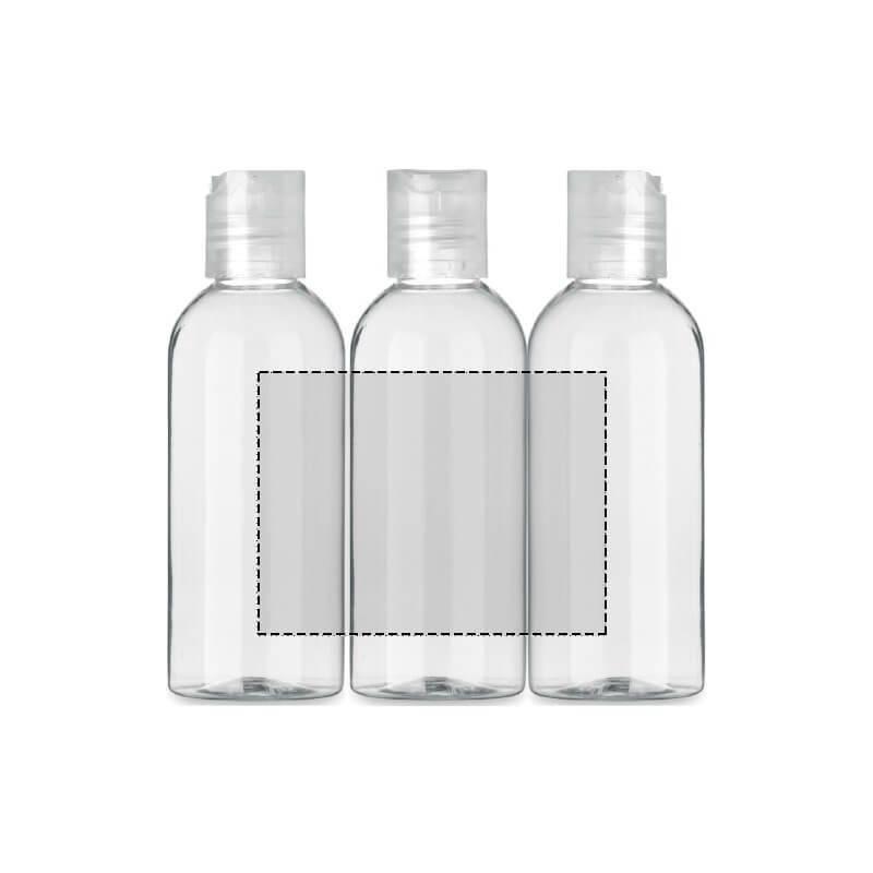 Kit de botellas rellenables con funda 4