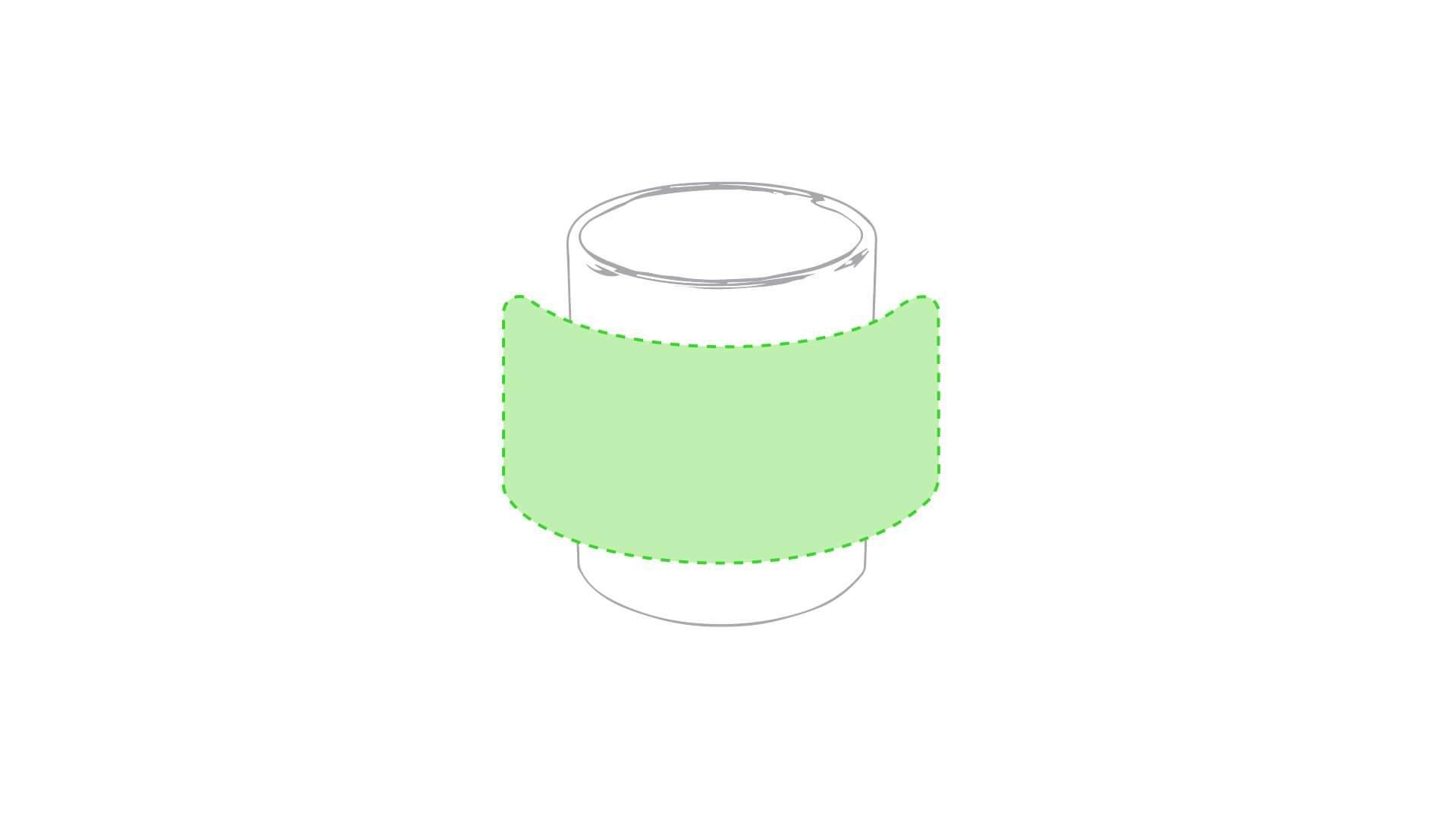 Taza cerámica blanca para engraving 1