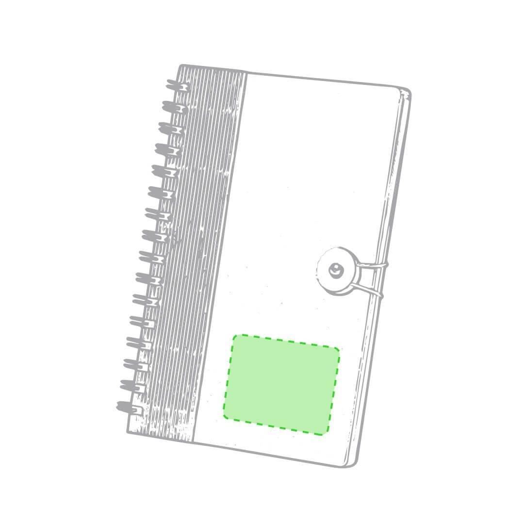 Libreta de cartón reciclado con cierre 1