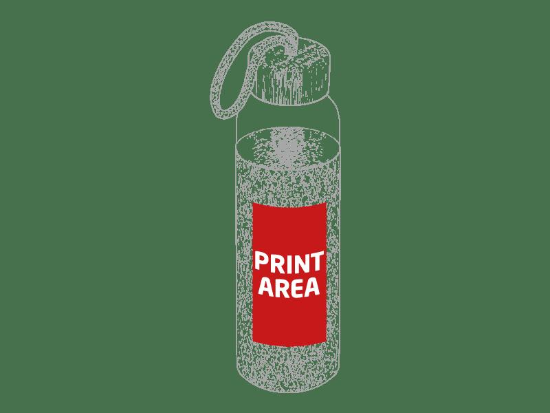 Botella de cristal con funda de corcho 1