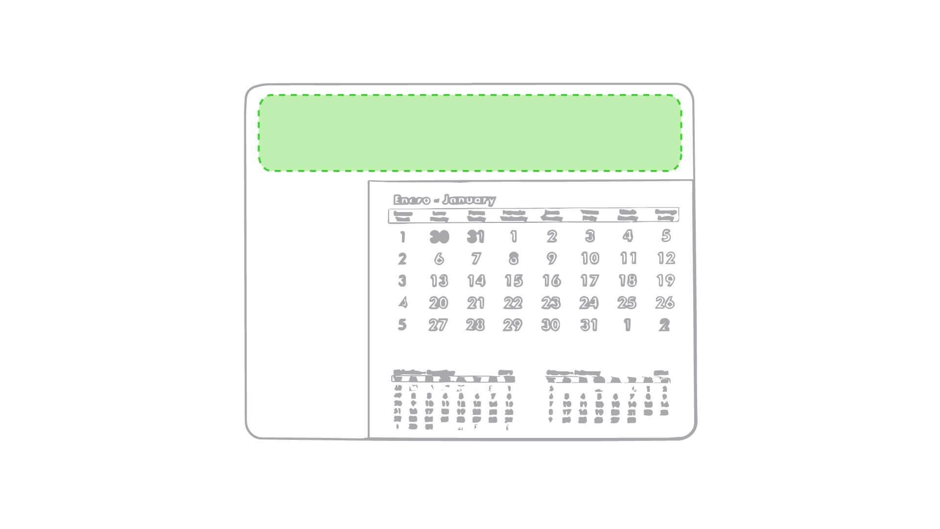Alfombrilla calendario 1