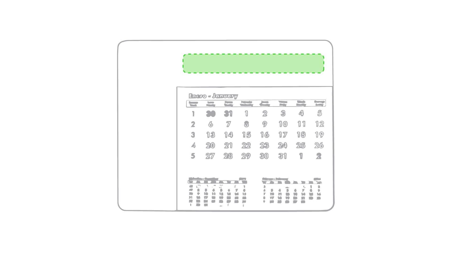 Alfombrilla calendario 2