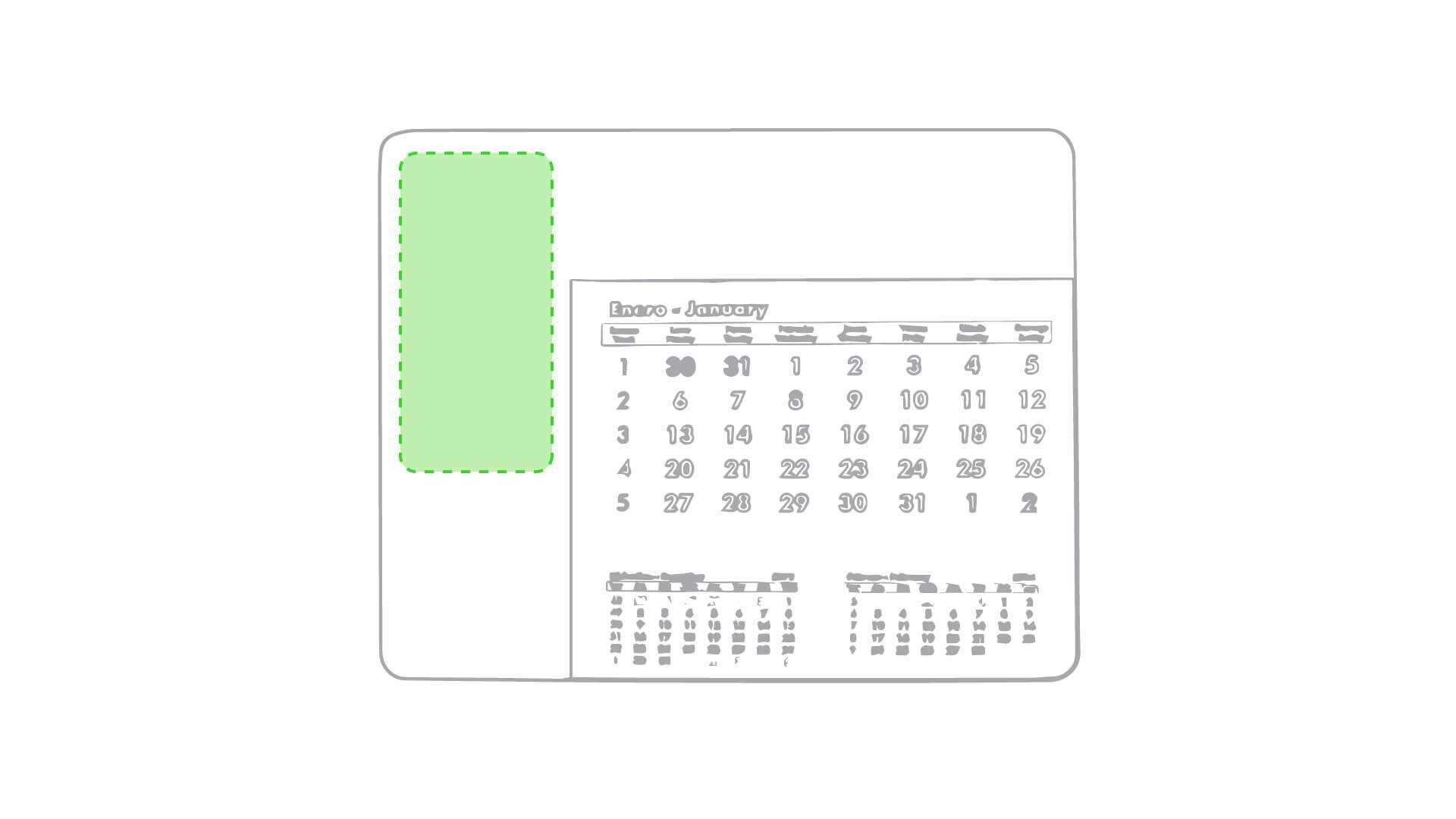 Alfombrilla calendario 3