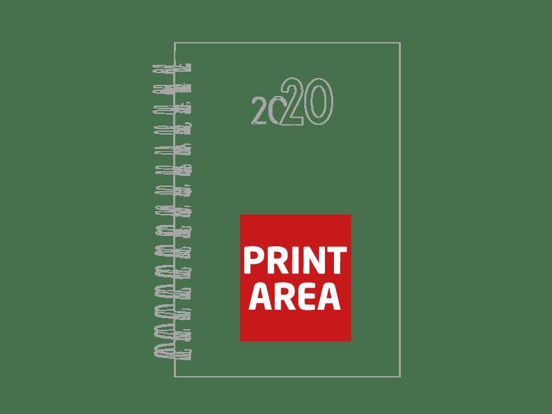 Agenda de anillas metalizada 2