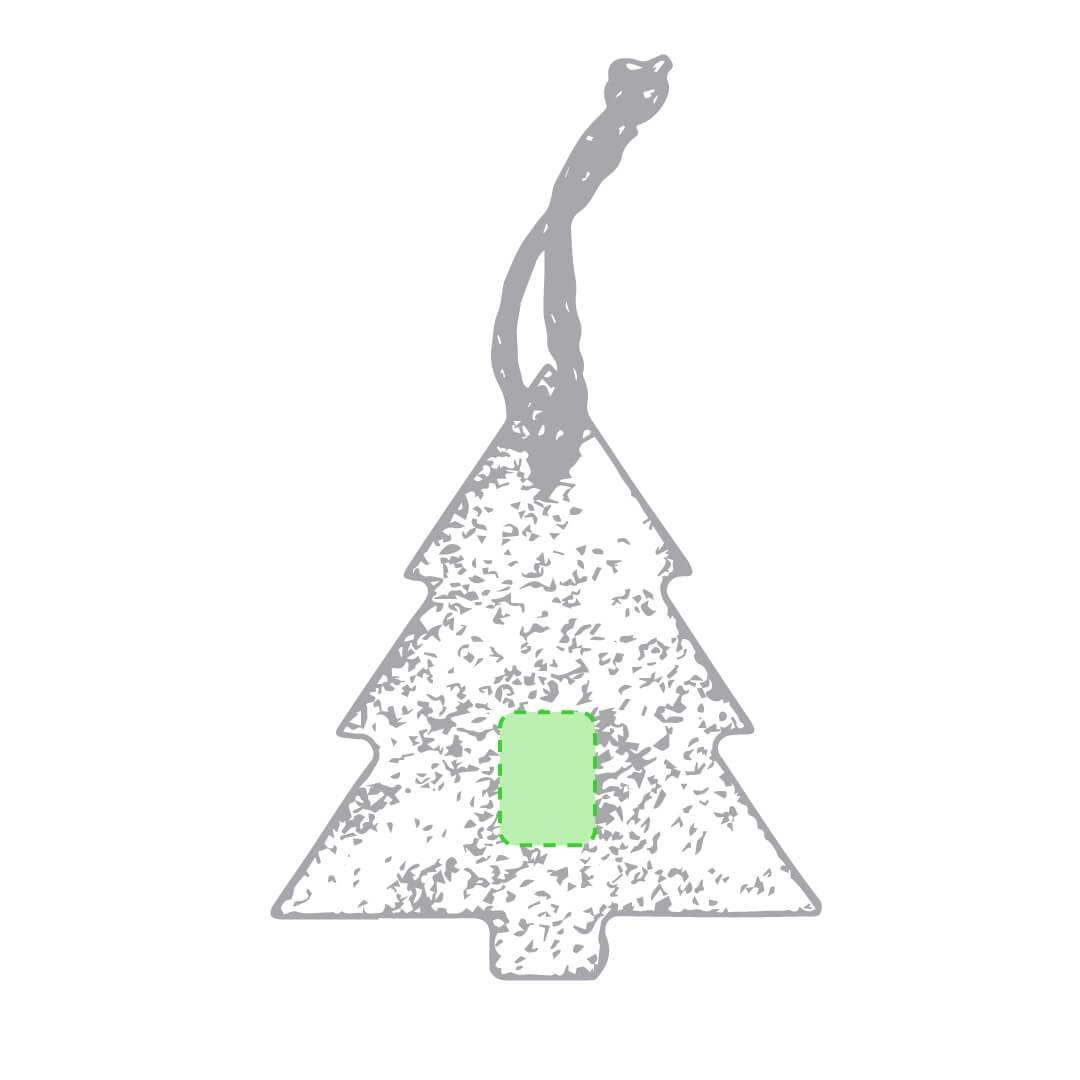 Adorno navideño de pizarra 2