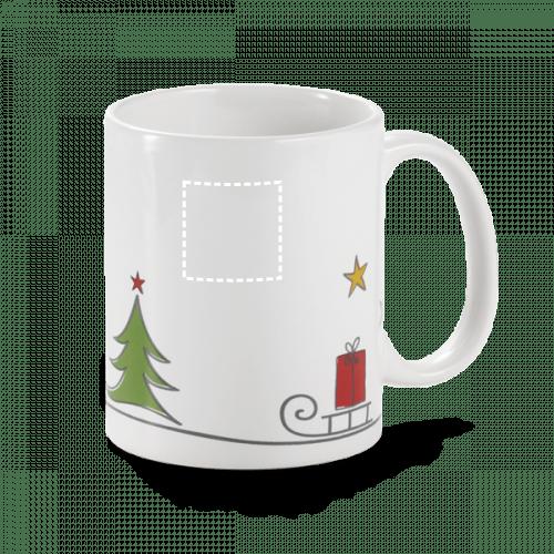 Taza de Navidad con trineo 1