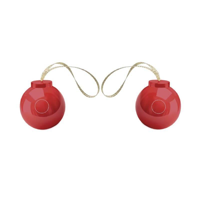 Bálsamo labial con forma de bola navideña 1