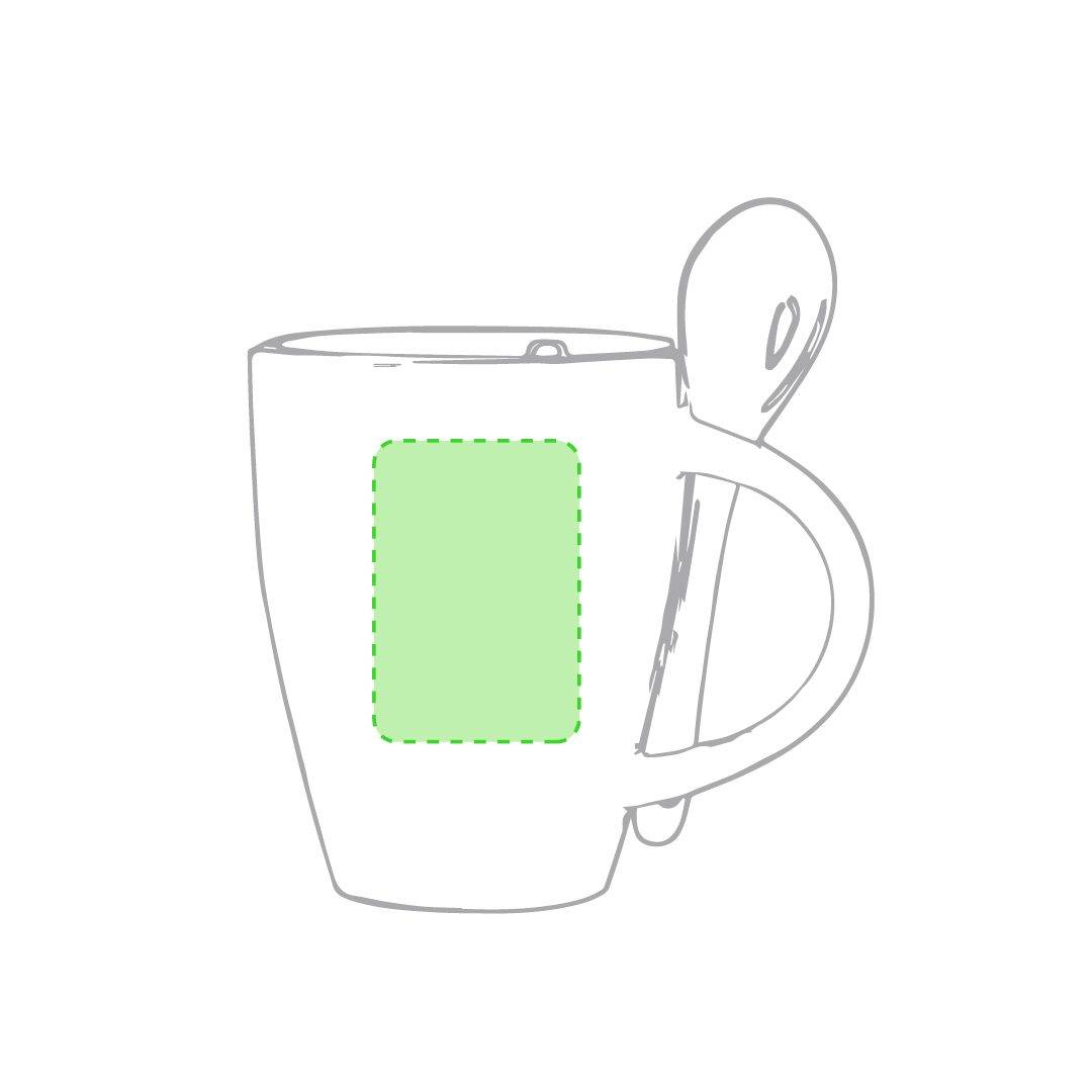Taza blanca con cuchara 1