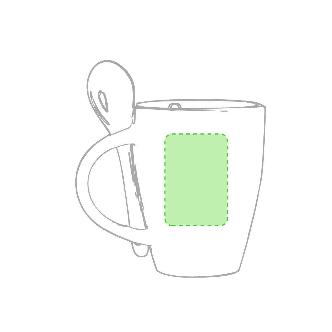 Taza blanca con cuchara 2
