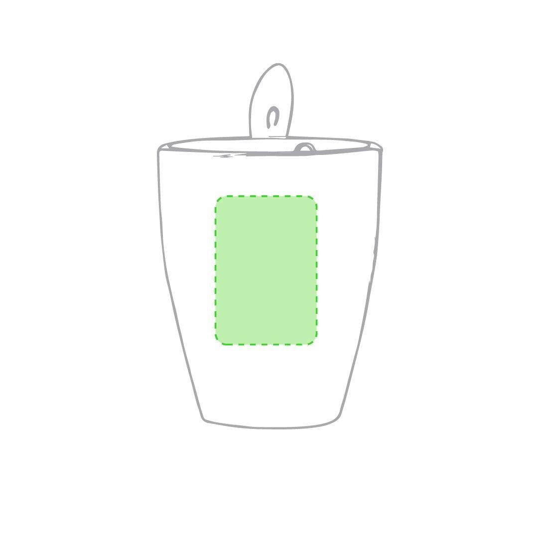 Taza blanca con cuchara 3