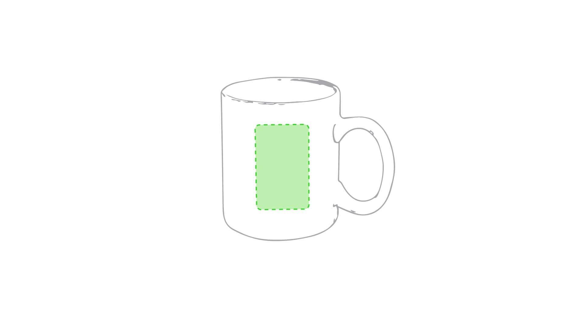 Taza cerámica 370 ml blanca 1
