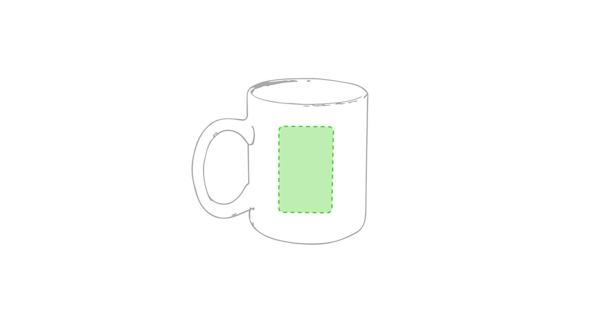 Taza cerámica 370 ml blanca 3