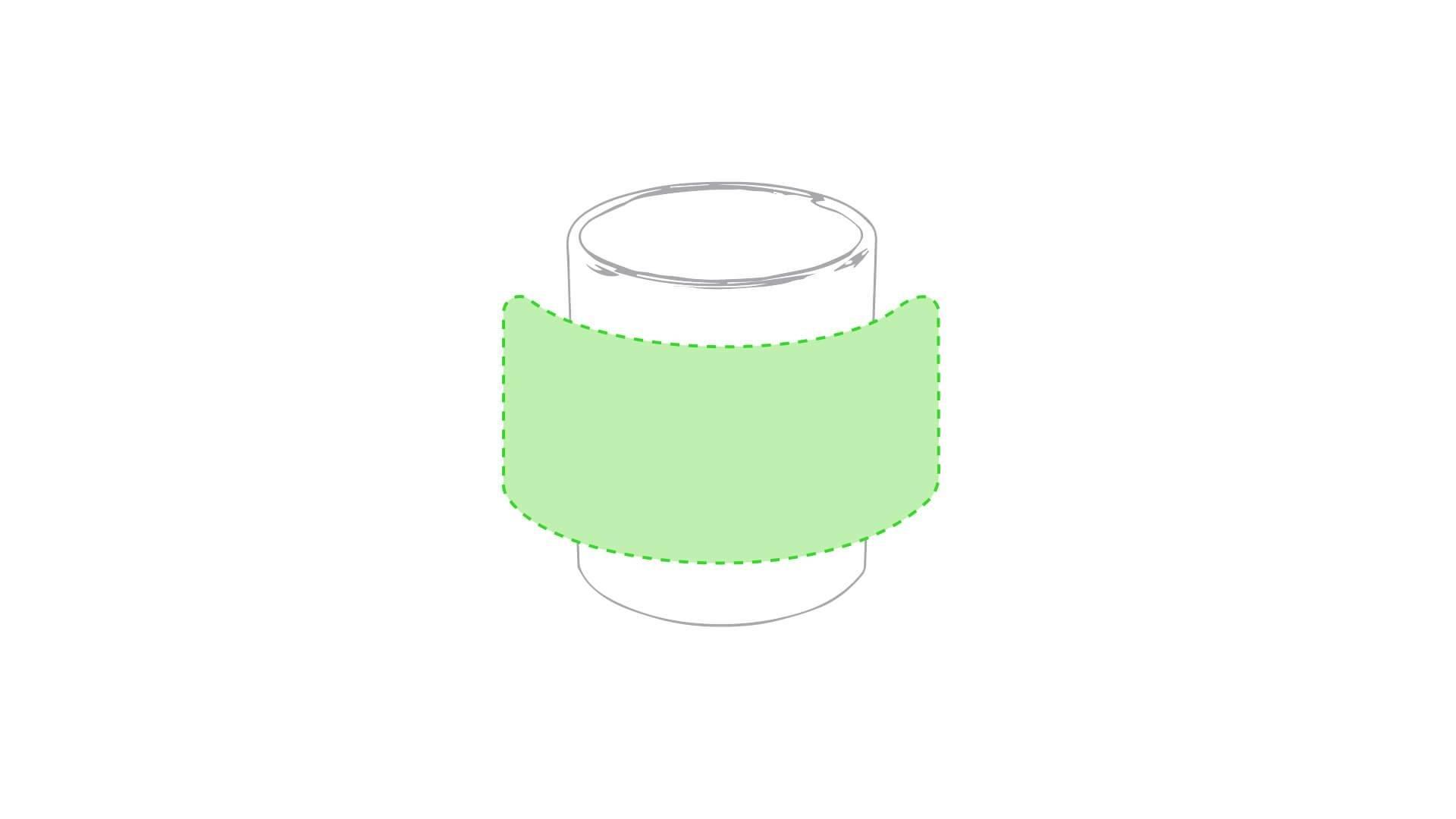 Taza cerámica 370 ml blanca 4