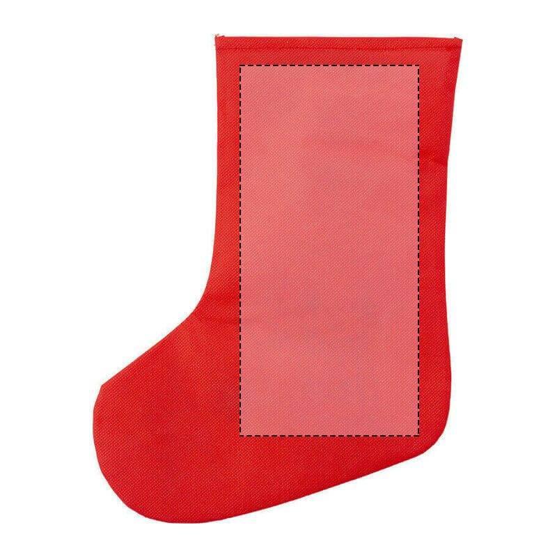 Calcetín navideño para colorear 1