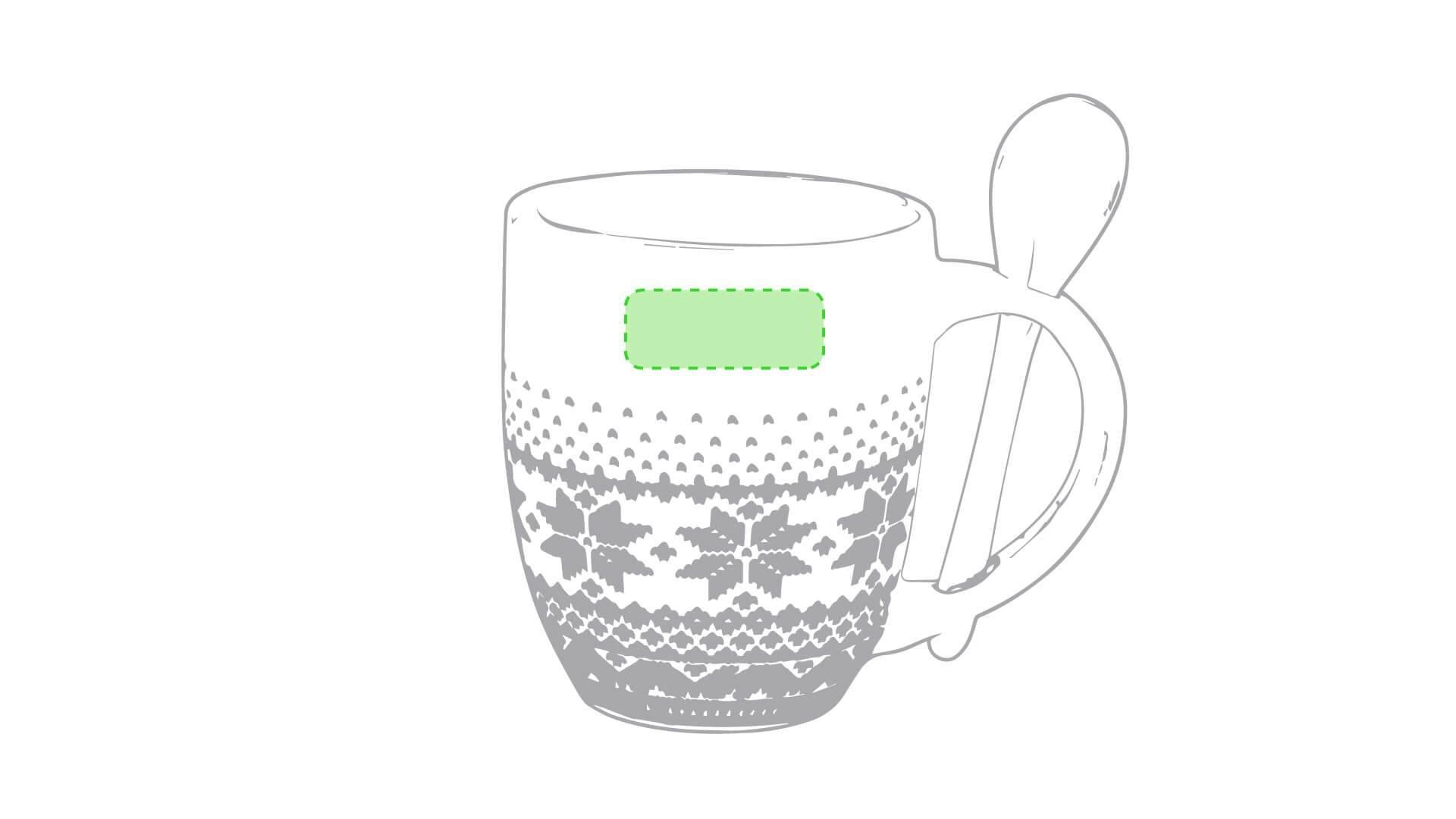 Taza de Navidad estilo nórdico con cuchara 1